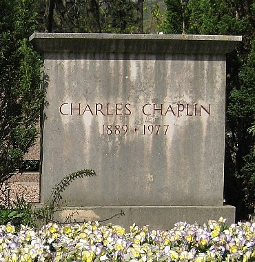 Chaplin's grave in Switzerland
