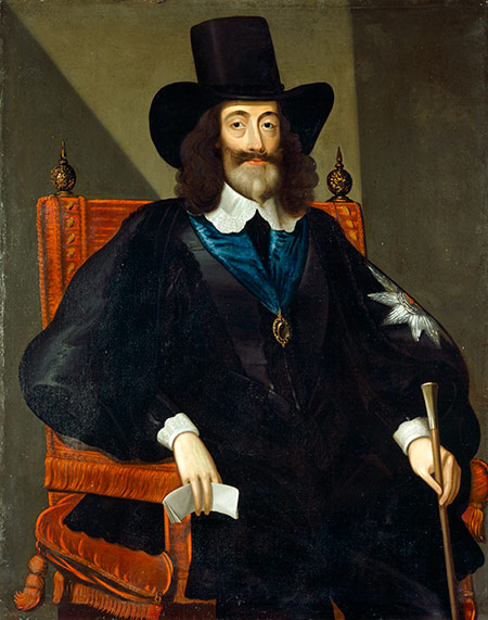 Charles I at his trial by Edmund Bowers