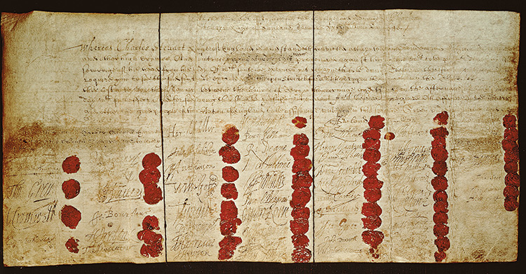 Charles I's death warrant.