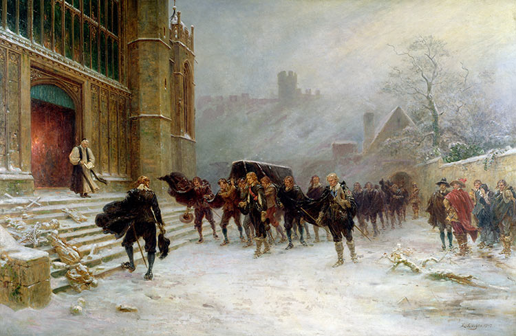 The funeral of Charles I at St George's Chapel, Windsor, by Ernest Crofts, 1907.