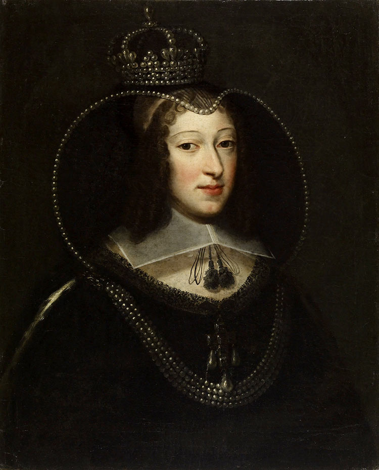 The queen of Charles I and daughter of Henry IV of France, anonymous portrait, 1650s