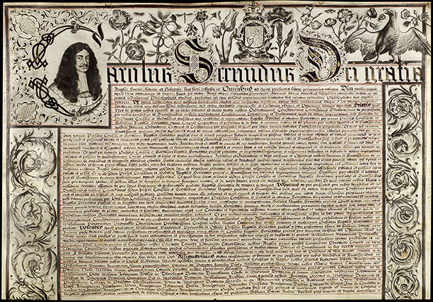 The Royal Society's first charter, 1662