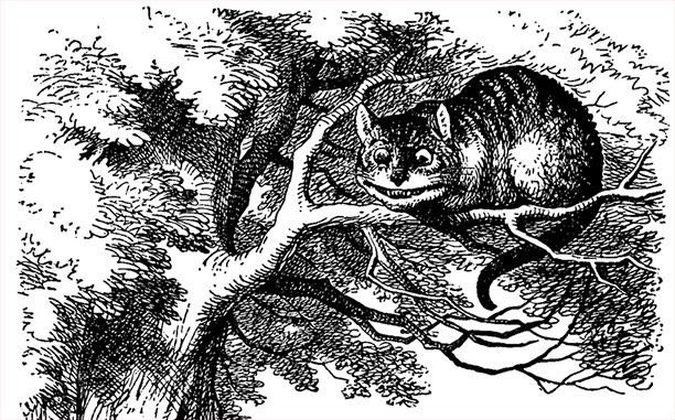 The Cheshire Cat, from Alice's Adventures in Wonderland.