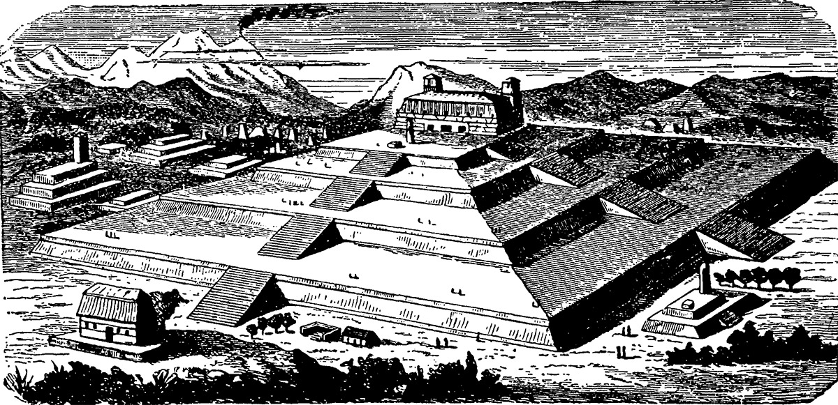 Artists impression of what the pyramid may have looked like.