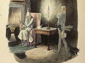 """Marley's Ghost"" Original illustration from A Christmas Carol"