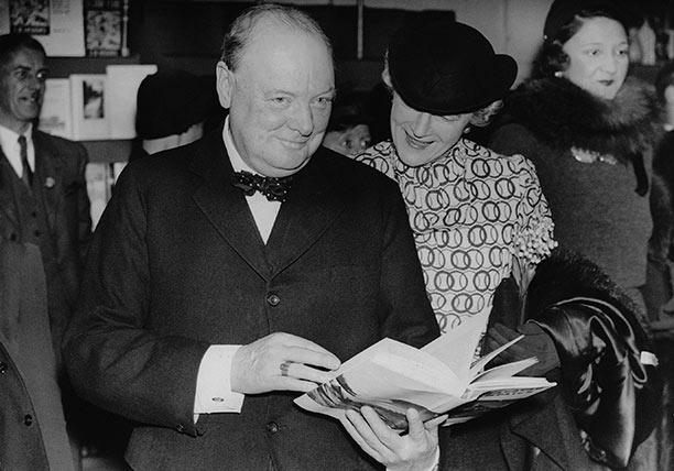 Winston Churchill, with his wife Clementine, on tour in the United States during the 1930s. Image from http://www.historytoday.com/roland-quinault/churchill-bulldog-still-bites