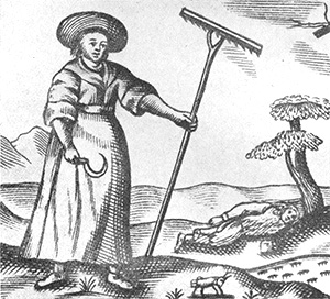 A countrywoman of the mid-seventeenth century