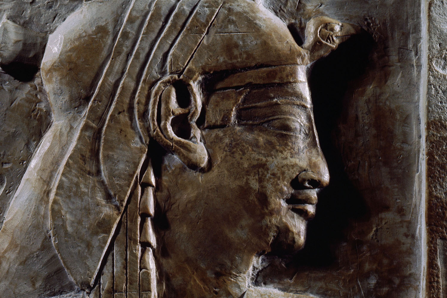 A fragment of a Ptolemaic relief believed to show Queen Cleopatra.