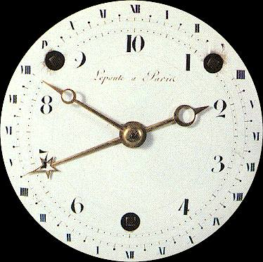 French decimal clock from the time of the French Revolution