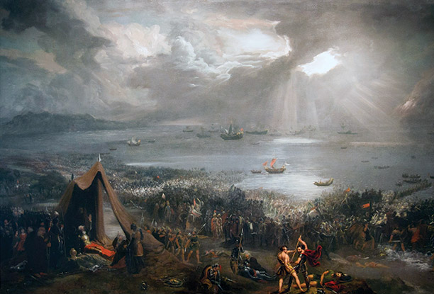 'Battle of Clontarf' by Hugh Frazer, 1826. This painting has returned to Ireland in time for Clontarf 2014. Kildare Partners, Dublin