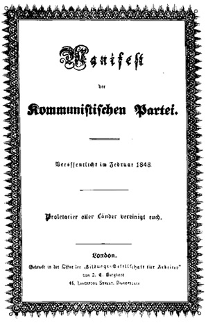 First edition of the Communist Manifesto, in German