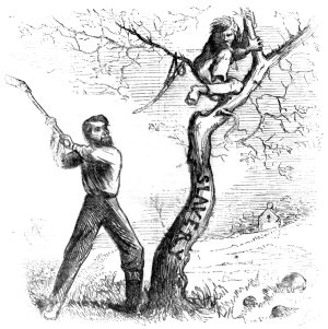 Lincoln's Last Warning: 'Now if you don't come down I'll cut the tree from under you.'Harper's Weekly, October 11th, 1862.