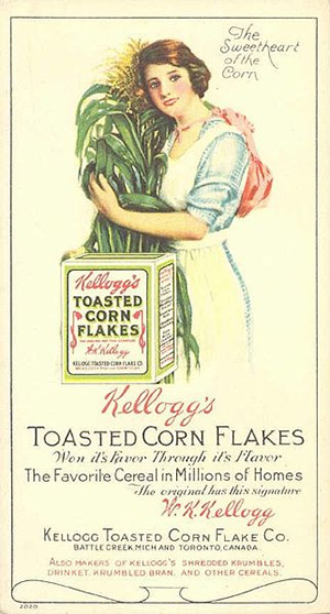 Advertising for Kellogg's Toasted Corn Flake, 1910s