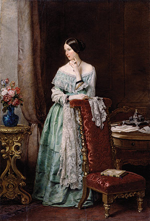 Angela Burdett-Coutts portrayed by William Charles Ross, c. 1847