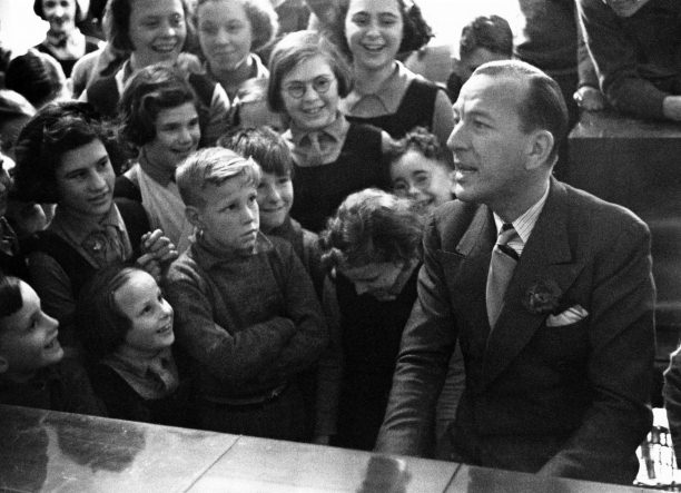 Noel Coward visits the orphanage
