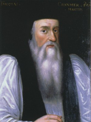 Portrait of Cranmer after Henry VIII's death by an unknown artist