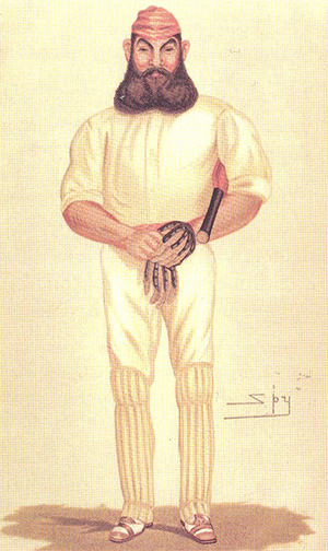 'Cricket', personified by W.G. Grace, caricatured by Leslie War in Vanity Fair, June 9th, 1877.