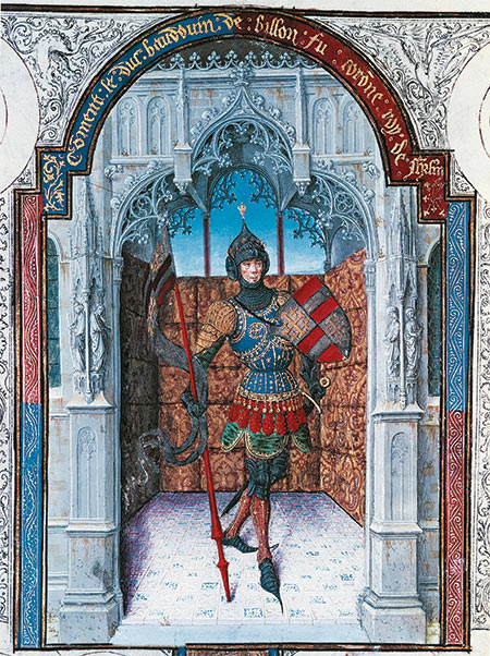 Baldwin I, King of Jerusalem (c.1058-1118), from the Abrégé de la Chronique de Jerusalem, France, 15th century. De Agostini / Bridgeman Images