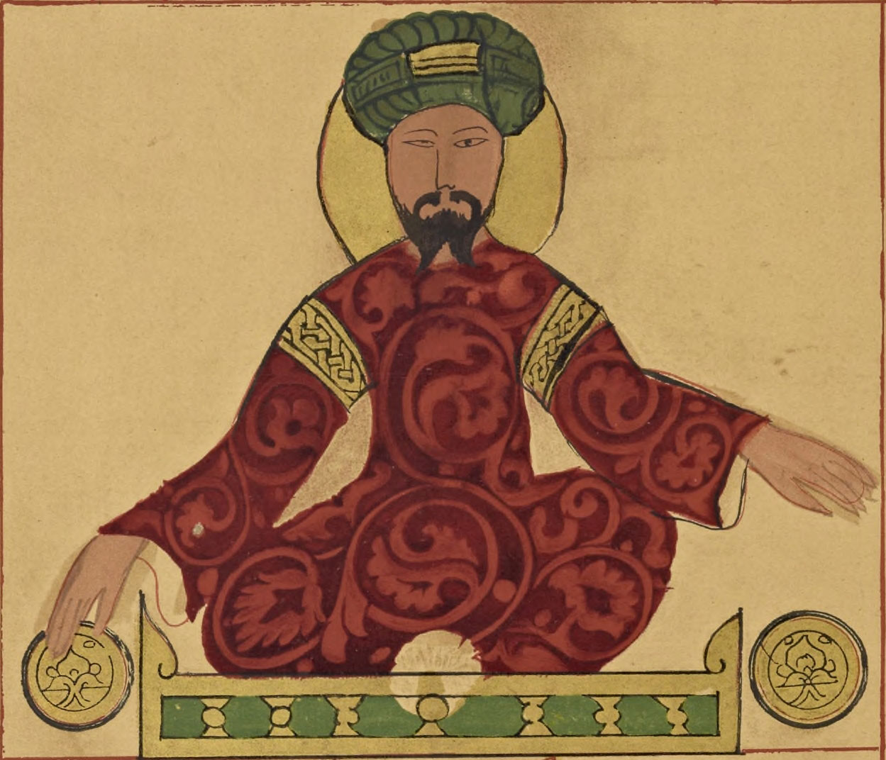 Portrait of Saladin.