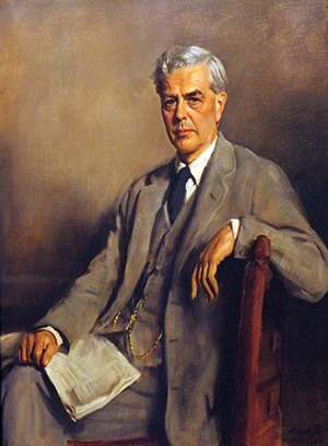 Portrait of Lionel Curtis (1872-1955) by Oswald Birley presented in 1932 to Chatham House