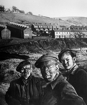 Three miners just up from the pits. South Wales, February 1950. Getty Images/Time Life/W.Eugene Smith