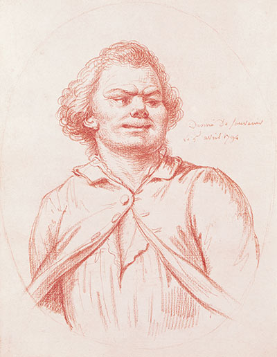 Georges Danton, a rival of Saint-Just, is led to his execution, 1794. Chalk sketch by Pierre Wille. (Musée Carnavalet / Bridgeman Images)