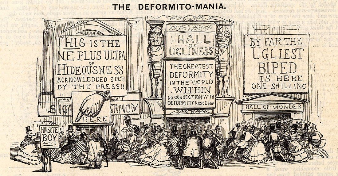 'The Deformito-Mania', cartoon published in Punch, 4 September 1847.