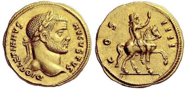 Aureus of Emperor Diocletian