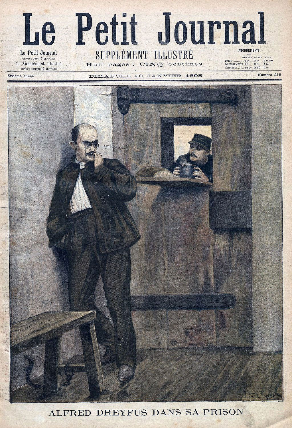 Cover of Le Petit Journal, 20 January 1895 (illustration by Lionel Royer and Fortuné Méaulle)
