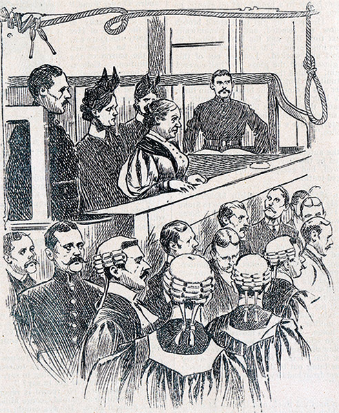 Dyer is sentenced to death at the Old Bailey. From 'Famous Crimes', Police Budget Edition, 1905. Evans Skinner Crime Archive