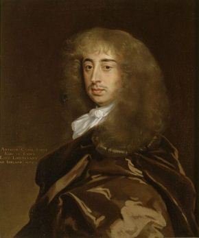 The 1st Earl of Essex, in a painting commemorating his appointment as Lord Lieutenant of Ireland, 1672.