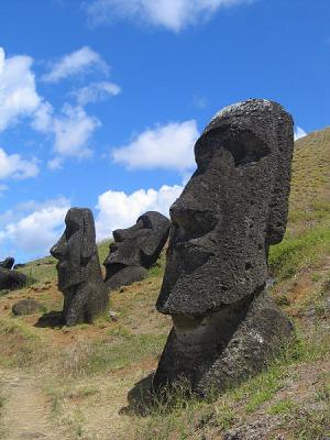 Moai at Rano Raraku, Easter Island