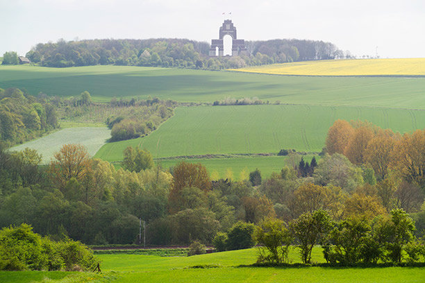 A place of war in a time of peace: the Thiepval Memorial to the Missing of the Somme, designed by Edwin Lutyens.