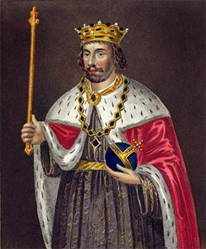 King Edward II of England, a fictional, anonymous 19th century portrait