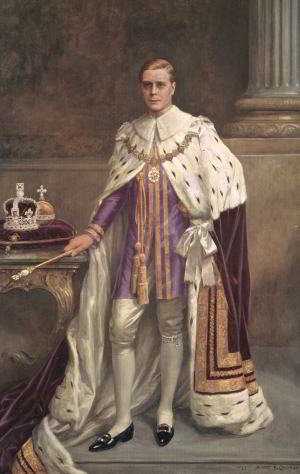 The original portrait of Edward VIII. Mary Evans Picture Library