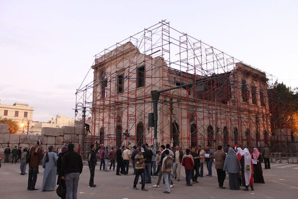 The building during restoration work, January 2012. Photo / Mohamed Ouda