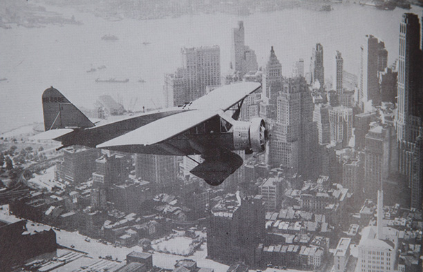 'Lituanica' flies over New York City on July 14th, 1933