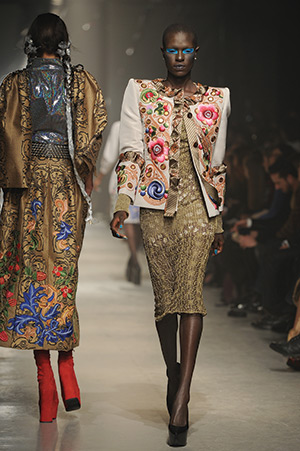 The Autumn / Winter collection of Vivienne Westwood. Getty Images/Pascal Le Segretain