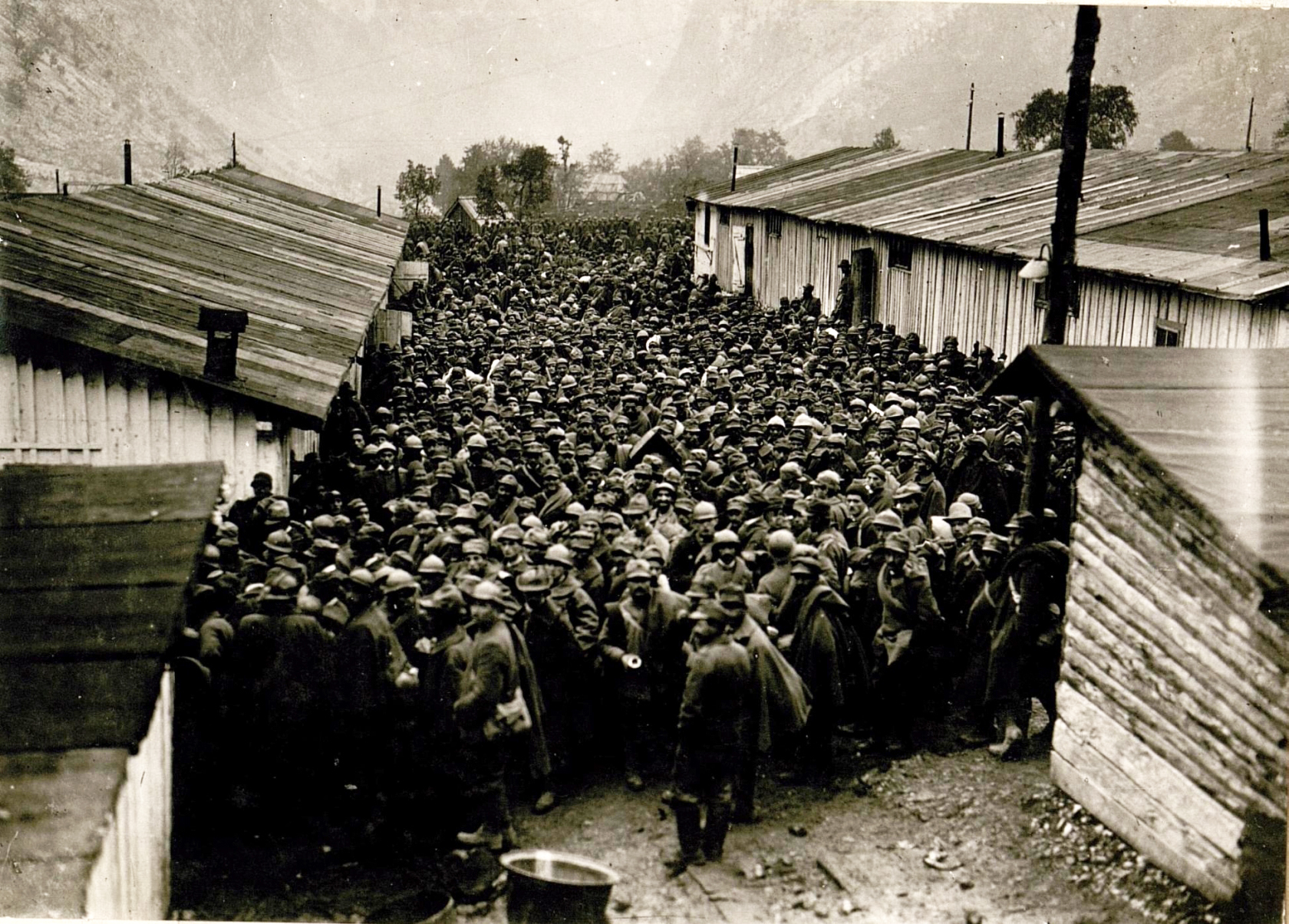 Captured Italian soldiers after the Battle of Caporetto.