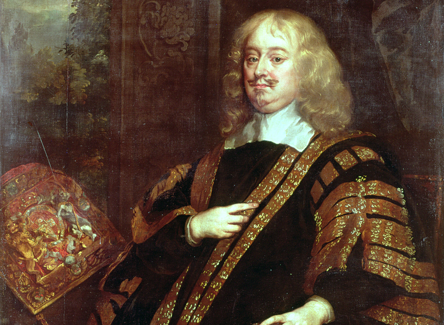Edward Hyde, Earl of Clarendon as Lord High Chancellor, by Peter Lely, c.1666. Ⓒ Middle Temple London / Bridgeman Images.