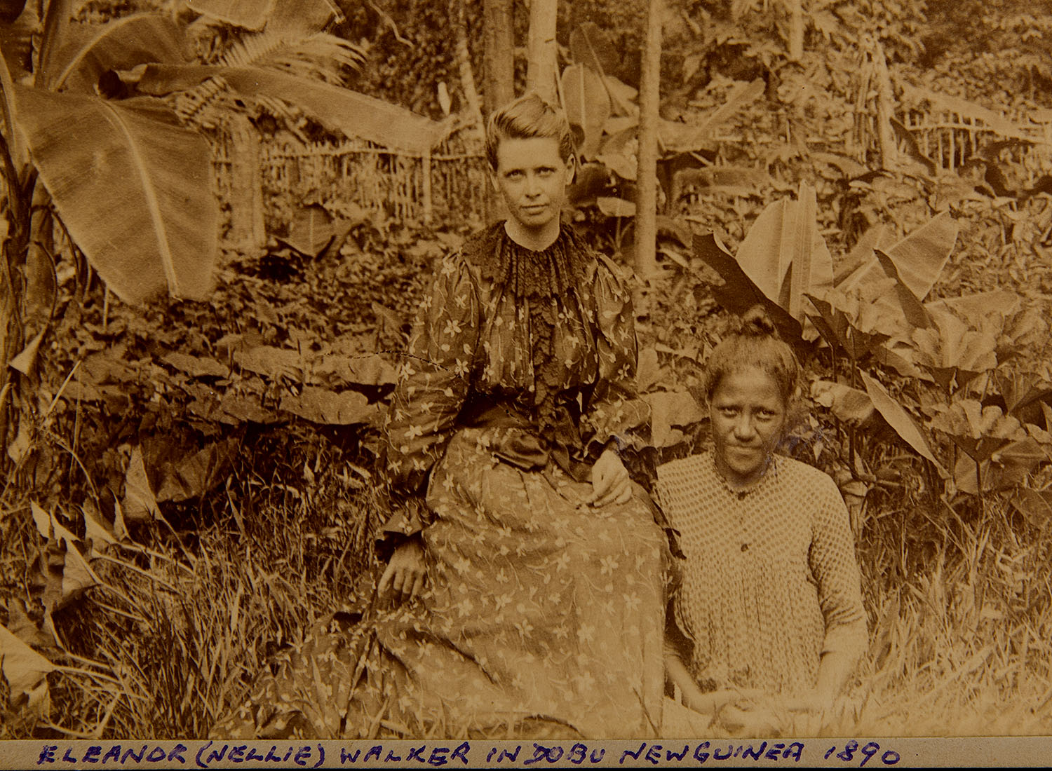 Eleanor (Nellie) Walker and an unidentified Dobuan woman, 1890.