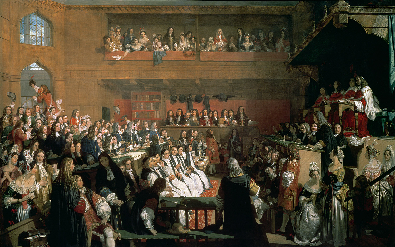 'The Trial of the Seven Bishops in the House of Commons During the Reign of James II' by John Herbert, 1844. Thomas Agnew's / Bridgeman Images