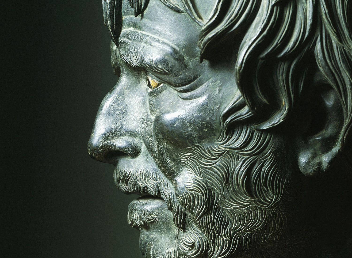 Bronze bust of Seneca the Younger, first century BC. © Bridgeman Images.