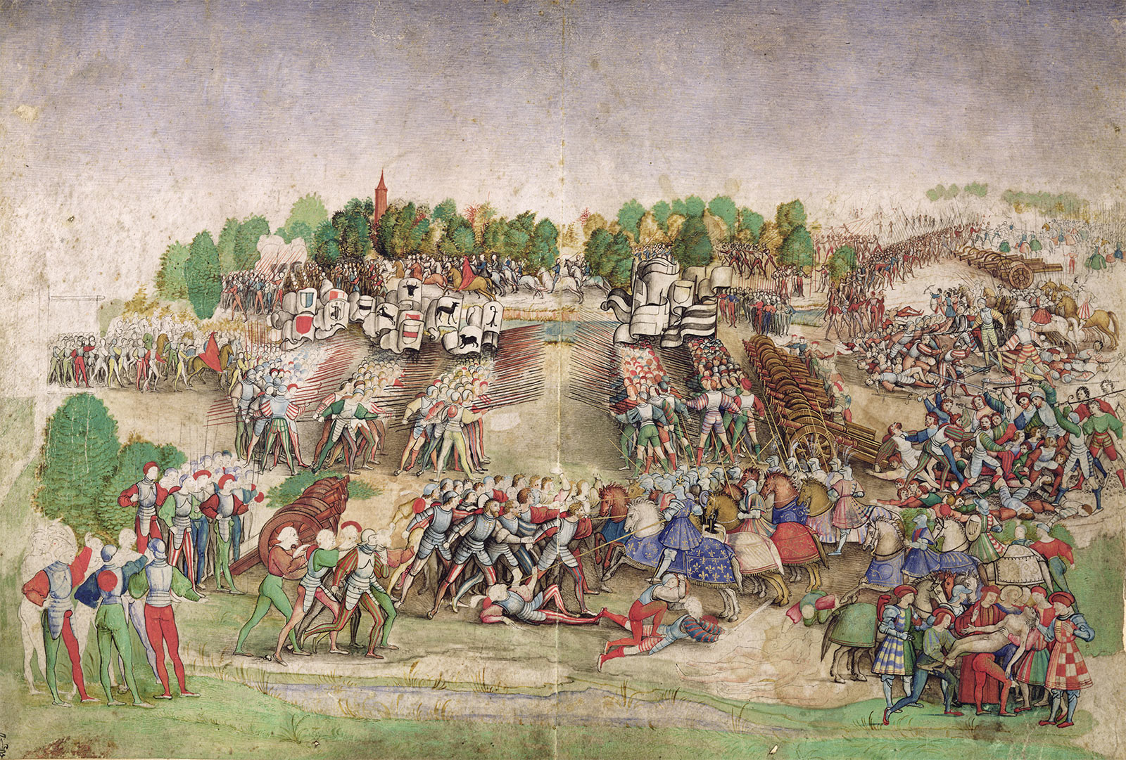 The Battle of Marignano by Natale Datti, 16th century.