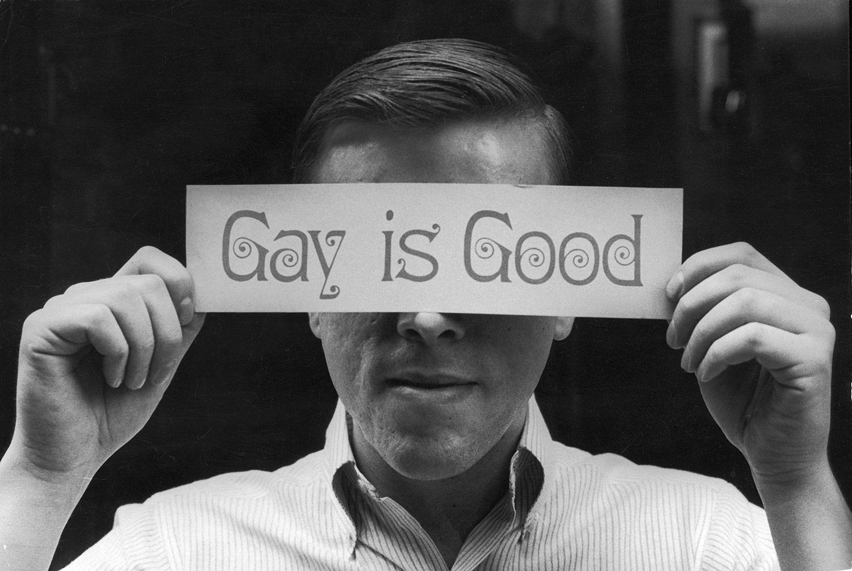 US gay rights activist Craig Rodwell, 1969