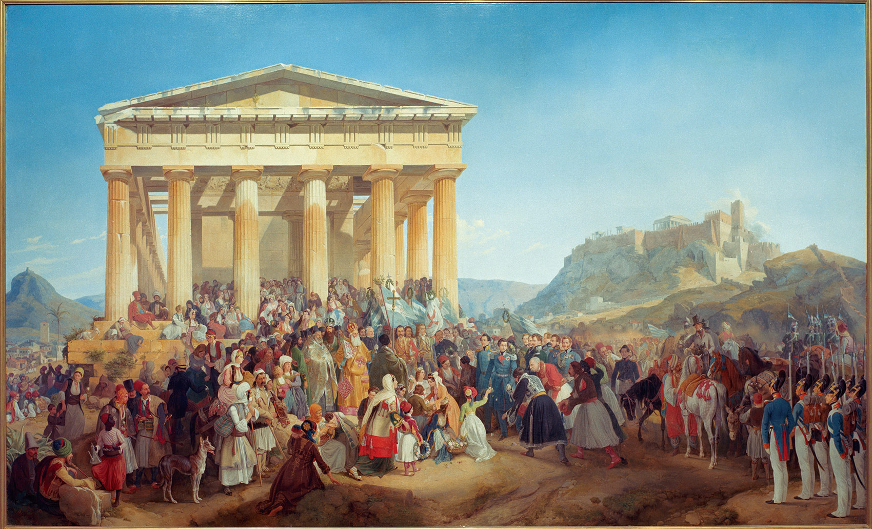 Reception of King Otto of Greece in Athens, 23 May 1833, by Peter von Hess, 1839