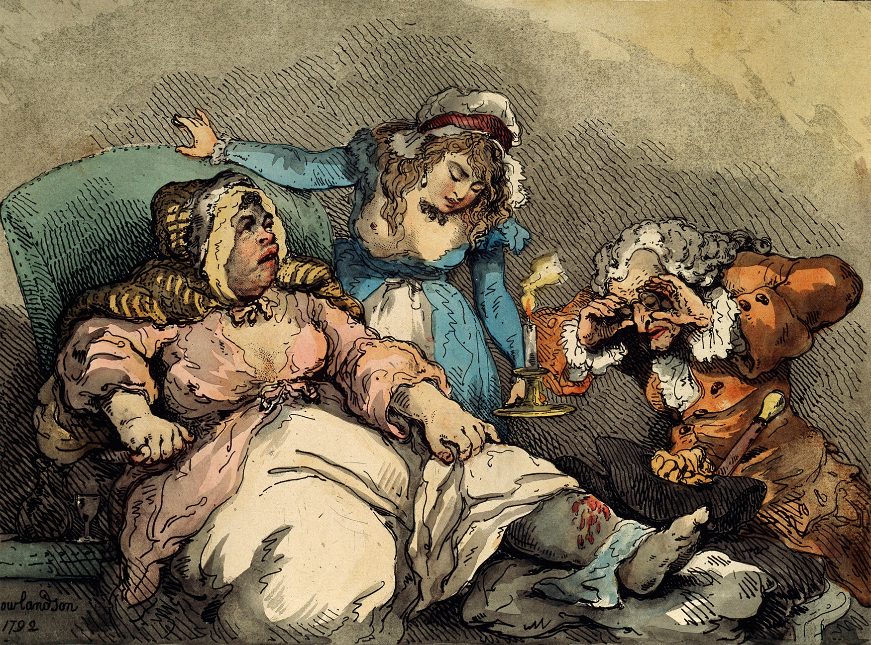 'A Bawd on Her Last Legs', by Thomas Rowlandson, 1792.