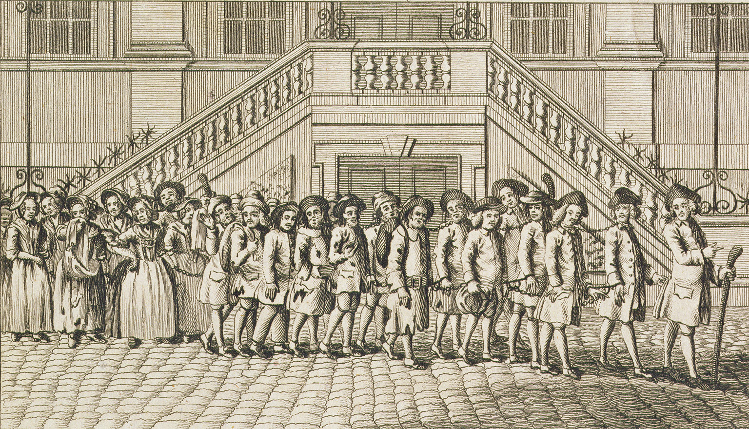 Convicts from Newgate Prison being taken for transportation, c.1760