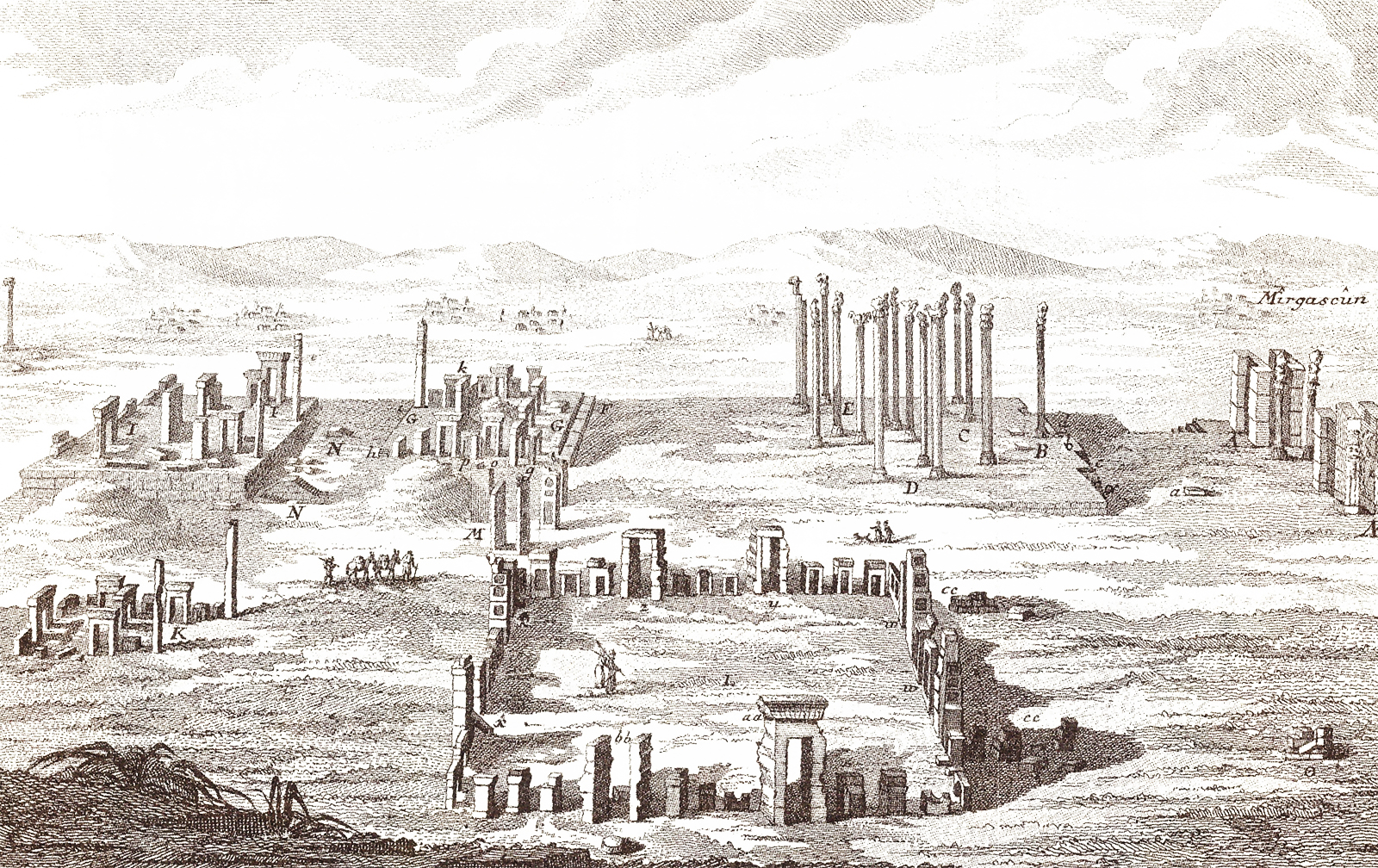Views of the ruins of Persepolis