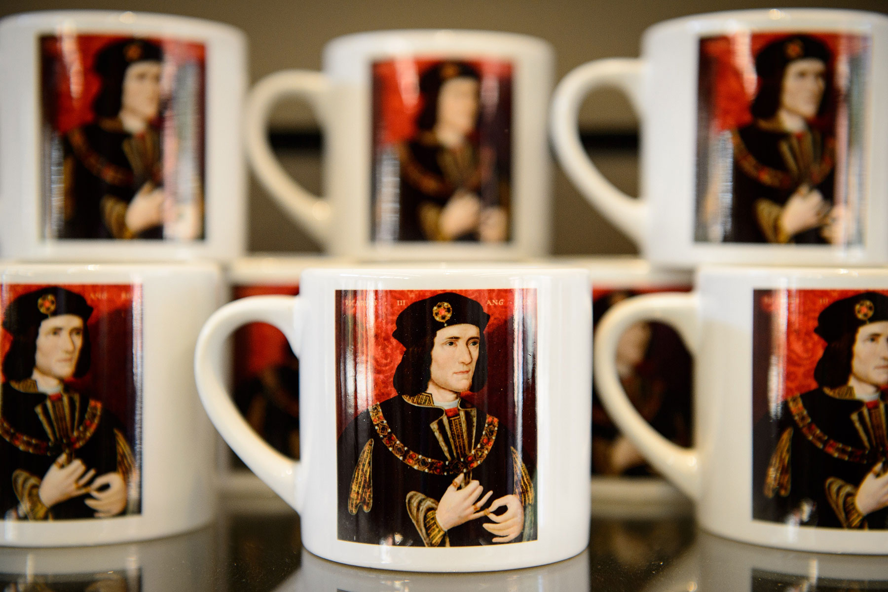 Souvenirs from the King Richard III visitor centre in Leicester.
